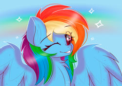 Size: 5787x4092 | Tagged: safe, artist:janelearts, rainbow dash, pony, absurd resolution, one eye closed, solo, wink