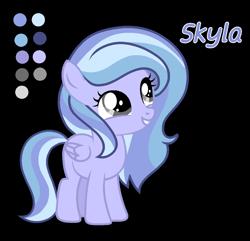 Size: 1268x1224   Tagged: safe, artist:stellamoonshine, oc, oc:skyla, pegasus, pony, female, filly, simple background, solo, transparent background