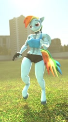 Size: 720x1280 | Tagged: safe, artist:epickitty54, artist:mod_24, rainbow dash, anthro, 3d, gun, handgun, hooves, revolver