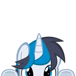 Size: 2000x2000 | Tagged: safe, artist:mrkat7214, part of a set, oc, oc:solar gizmo, pony, unicorn, commission, high res, lurking, peeking, simple background, solo, soon, transparent background, underhoof, vector, ych result