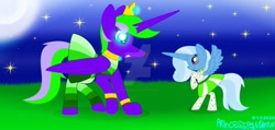 Size: 1280x611 | Tagged: safe, artist:ioveanimals100, trixie, oc, night