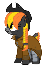 Size: 4659x6988 | Tagged: safe, artist:estories, oc, oc:rook (estories), pony, absurd resolution, clothes, female, hat, mare, simple background, solo, transparent background, vector