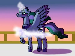 Size: 1280x960 | Tagged: safe, artist:kindheart525, oc, oc only, oc:firefly, alicorn, changepony, hybrid, kindverse, alicorn oc, crown, horn, interspecies offspring, jewelry, magical lesbian spawn, offspring, parent:princess luna, parent:queen chrysalis, parents:chrysaluna, regalia, wings