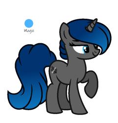 Size: 683x709   Tagged: safe, artist:darbypop1, oc, oc:dj emo, pony, unicorn, female, mare, simple background, solo, transparent background
