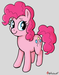 Size: 1025x1311   Tagged: safe, artist:heretichesh, pinkie pie, earth pony, pony, cutie mark, female, mare, smiling, solo, solo female, standing
