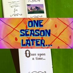 Size: 1564x1564 | Tagged: safe, artist:rarityvrymerzhmusic, applejack, fluttershy, pinkie pie, rainbow dash, rarity, spike, twilight sparkle, alicorn, friendship is magic, the last problem, older, older applejack, older fluttershy, older pinkie pie, older rainbow dash, older rarity, older spike, once upon a time, princess twilight 2.0, season 11 episode: the clam whisperer, spongebob squarepants, spongebob time card, the clam whisperer, twilight sparkle (alicorn)