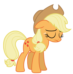 Size: 7250x7356 | Tagged: safe, artist:estories, applejack, pony, absurd resolution, simple background, solo, transparent background, vector