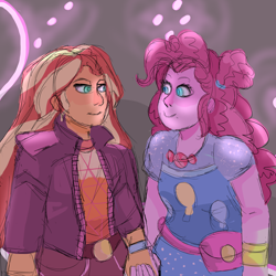 Size: 2000x2000 | Tagged: safe, artist:ponkersetfan01, pinkie pie, sunset shimmer, equestria girls, equestria girls series, sunset's backstage pass!, spoiler:eqg series (season 2), holding hands, screencap reference