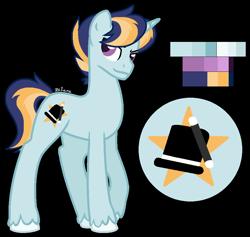 Size: 938x888 | Tagged: safe, artist:zafara1222, oc, oc:star struck, pony, unicorn, male, offspring, parent:prince blueblood, parent:trixie, parents:bluetrix, simple background, solo, stallion, transparent background