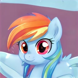 Size: 1024x1024 | Tagged: safe, artist:thisponydoesnotexist, bust, neural network, not rainbow dash, solo