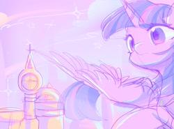 Size: 2300x1700 | Tagged: safe, artist:leafywind, twilight sparkle, alicorn, pony, canterlot, female, mare, solo, spread wings, twilight sparkle (alicorn), wings