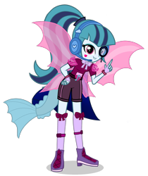 Size: 1755x2094 | Tagged: safe, artist:starflashing twinkle, sonata dusk, equestria girls, cute, fin wings, simple background, solo, standing, transparent background, wings