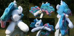 Size: 4132x2000 | Tagged: safe, artist:bastler, princess celestia, alicorn, pony, irl, photo, plushie, sleeping, solo