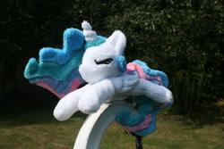 Size: 3888x2592 | Tagged: safe, artist:bastler, derpibooru exclusive, princess celestia, alicorn, pony, irl, photo, plushie, sleeping, solo