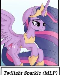 Size: 568x710 | Tagged: safe, alternate version, artist:rina_morningsun, twilight sparkle, alicorn, pony, the last problem, female, hoof shoes, jewelry, mare, peytral, princess twilight 2.0, solo, tiara, twilight sparkle (alicorn)