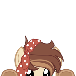 Size: 2000x2000 | Tagged: safe, artist:mrkat7214, oc, oc only, oc:apple bottom, earth pony, pony, commission, female, high res, looking at you, lurking, mare, peeking, simple background, soon, transparent background, underhoof, vector, ych result