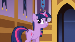 Size: 1920x1080   Tagged: safe, screencap, twilight sparkle, pony, unicorn, the crystal empire, butt, female, mare, plot, solo, twibutt, unicorn twilight