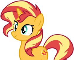 Size: 1280x1050 | Tagged: safe, artist:andoanimalia, sunset shimmer, pony, unicorn, equestria girls, spring breakdown, cute, female, mare, shimmerbetes, simple background, solo, transparent background, vector