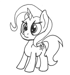 Size: 540x577 | Tagged: safe, artist:ewoudcponies, trixie, lineart, traditional art