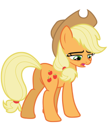 Size: 6532x7381 | Tagged: safe, artist:estories, applejack, earth pony, pony, butt, cowboy hat, female, hat, mare, plot, simple background, solo, stetson, transparent background, vector