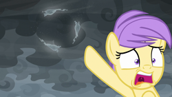 Size: 1920x1080 | Tagged: safe, screencap, berry sweet, earth pony, pony, windigo, the ending of the end, female, friendship student, mare, pointing