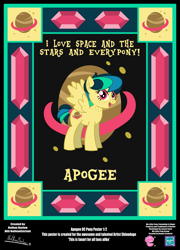 Size: 3425x4758 | Tagged: safe, artist:nathianexiztant, oc, oc:apogee, pegasus, pony, absurd resolution, female, poster, solo, teenager