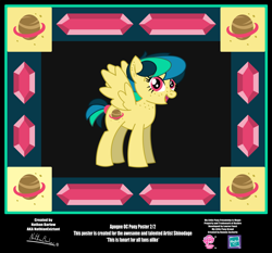 Size: 4254x3962 | Tagged: safe, artist:nathianexiztant, oc, oc:apogee, pegasus, pony, absurd resolution, female, poster, solo, teenager