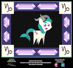 Size: 4254x3962 | Tagged: safe, artist:nathianexiztant, pony, absurd resolution, capricorn, pointy ponies, ponyscopes, poster, solo