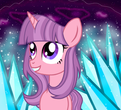 Size: 1100x1000 | Tagged: safe, artist:katya, masked matter-horn, unicorn, crystal, glow, ice, power ponies, spell