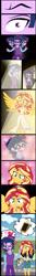 Size: 2480x18895 | Tagged: safe, alternate version, artist:urhangrzerg, adagio dazzle, sunset shimmer, twilight sparkle, equestria girls, allegro amoroso, angel, comic, dusk shine, female, male, rule 63