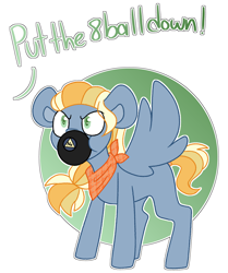 Size: 2570x3081   Tagged: safe, artist:crazysketch101, oc, oc only, commission, magic 8 ball, no, simple background, solo, white background, ych result
