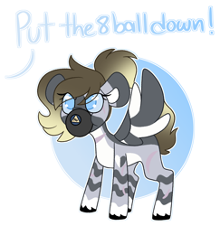 Size: 3086x3171   Tagged: safe, artist:crazysketch101, oc, oc only, commission, magic 8 ball, no, simple background, solo, white background, ych result