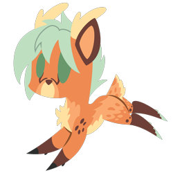 Size: 2100x2100 | Tagged: safe, artist:captshowtime, part of a set, oc, oc only, oc:stephen, oc:stephen wintre, deer, pony, antlers, chibi, commission, cute, furry, fursona, icon, simple background, solo, transparent background, ych result