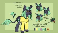 Size: 1920x1080 | Tagged: safe, artist:starryeggs, oc, oc:hoodoo, pony, unicorn, ponysona