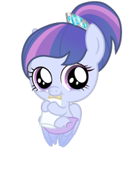 Size: 968x1324 | Tagged: safe, artist:stellamoonshine, oc, oc:christia armor, pegasus, pony, baby, baby bottle, baby pony, cute, offspring, parent:princess cadance, parent:shining armor, parents:shiningcadance, simple background, solo, transparent background