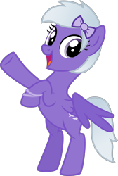 Size: 4000x5961 | Tagged: safe, artist:melisareb, derpibooru exclusive, oc, oc only, oc:comment, pegasus, pony, derpibooru, absurd resolution, bracelet, derpibooru ponified, female, jewelry, looking at you, mare, meta, ponified, rearing, ribbon, show accurate, simple background, solo, transparent background, vector, wings