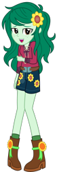 Size: 1500x4447 | Tagged: safe, artist:sketchmcreations, wallflower blush, equestria girls, equestria girls series, let it rain, spoiler:eqg series (season 2), clothes, commission, cute, female, flowerbetes, looking at you, music festival outfit, open mouth, simple background, smiling, socks, transparent background, vector