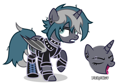 Size: 4350x2984 | Tagged: safe, artist:oyks, oc, oc only, oc:elizabrat meanfeather, alicorn, bat pony, bat pony alicorn, pony, alicorn oc, bat pony oc, bat wings, boots, choker, clone, clothes, ear piercing, earring, eyebrow piercing, eyes closed, female, fingerless gloves, gloves, gritted teeth, horn, jacket, jewelry, leather jacket, mare, open mouth, piercing, raised hoof, shoes, simple background, socks, solo, spiked choker, striped socks, tongue piercing, transparent background, wings