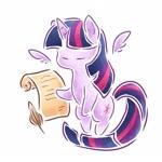 Size: 1400x1400 | Tagged: safe, artist:云观雾里, twilight sparkle, alicorn, pony, chibi, female, floating wings, mare, paper, solo, twilight sparkle (alicorn), wings