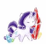 Size: 1800x1800 | Tagged: safe, artist:云观雾里, rarity, unicorn, chibi, female, mare, simple background, solo, white background