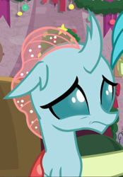 Size: 514x737 | Tagged: safe, screencap, ocellus, the hearth's warming club, cropped, nervous, solo