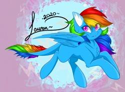 Size: 1024x751 | Tagged: safe, artist:shadowdash44, pegasus, pony, flying, leonine tail, missing cutie mark, raibow dash, solo