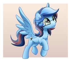 Size: 800x688 | Tagged: safe, artist:jhayarr23, oc, oc:ladetaw, pegasus, pony, glasses, solo, stalion
