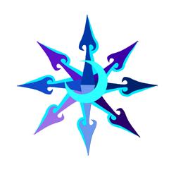 Size: 1789x1749 | Tagged: safe, artist:ce2438, oc, oc:moonlight toccata, unicorn, arrow, chaos, chaos star, cutie mark, moon, redraw, solo