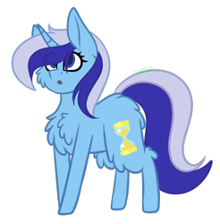 Size: 874x890 | Tagged: safe, artist:blue pines, artist:dipper-blue-pines, part of a set, minuette, pony, unicorn, female, fluffy, horn, mare, simple background, solo, transparent background