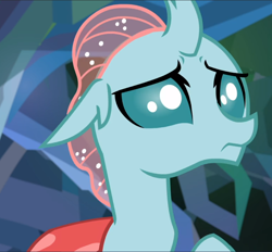 Size: 1010x939 | Tagged: safe, screencap, ocellus, what lies beneath, cropped, nervous, solo
