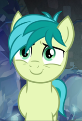 Size: 527x776 | Tagged: safe, screencap, sandbar, earth pony, what lies beneath, cropped, cute, male, sandabetes, smiling, solo, stallion