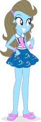 Size: 512x1516   Tagged: safe, artist:punzil504, beauty brass, equestria girls, friendship games, bracelet, clothes, clothes swap, equestria girls-ified, feet, female, grin, jewelry, necktie, sandals, simple background, skirt, smiling, solo, tanktop, transparent background, vector