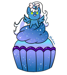 Size: 800x900 | Tagged: safe, artist:opal2004, oc, oc:fleurbelle, alicorn, adorabelle, alicorn oc, bow, cake, chibi, cupcake, female, food, hair bow, horn, mare, simple background, smol, transparent background, wings