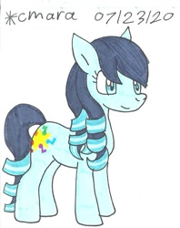 Size: 727x916 | Tagged: safe, artist:cmara, coloratura, earth pony, pony, female, mare, rara, simple background, smiling, solo, traditional art, white background